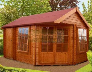 Shire Livia Ropsley Two Room Corner Log Cabin