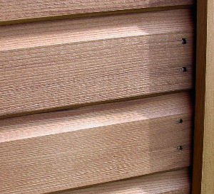 SUMMER HOUSES - Close up view of cladding
