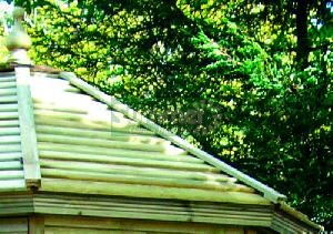SUMMER HOUSES - Pressure treated deal slatted roof