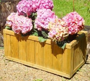 SUMMERHOUSES xx - Pair of wooden planters