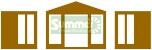 SUMMERHOUSES xx - Design F (at extra cost)