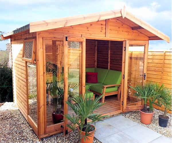 Malvern Newland Summerhouse - Large Panes, Double Door