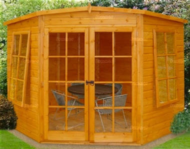 Shire Hampton Corner Summerhouse - Double Door