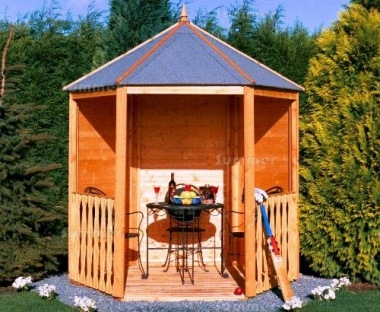 Shire Hexagonal Gazebo Shiplap T And G Floor