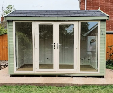 Apex Garden Office 435 - Painted, Double Glazed PVCu