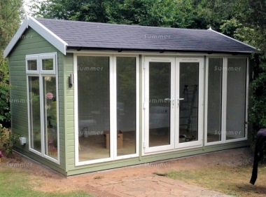 Apex Garden Office 485 - Painted, Double Glazed PVCu