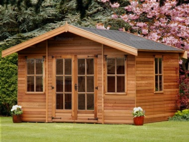 Georgian Apex Summerhouse 318 - Double Glazed