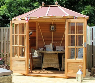 Alton Chatsworth Octagonal Summerhouse - Toughened Glass