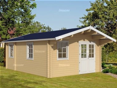 Three Room Apex Log Cabin 492 - Double Glazed
