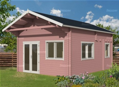 Three Room Apex Log Cabin 503 - Large Panes, Double Glazed, Loft Area