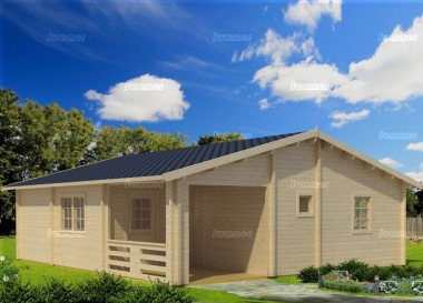 Four Room Apex Log Cabin 821 - Double Glazed, Integral Porch