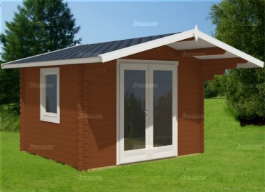 Double Door 40mm Apex Log Cabin 871 - Large Panes