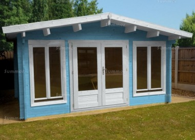Apex 45mm Log Cabin 023 - Double Glazed, Large Panes