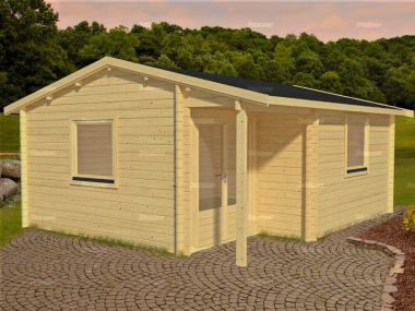 Side Door Apex Log Cabin 580 - Double Glazed