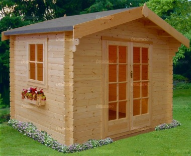 Shire Dalby Log Cabin - Double Door