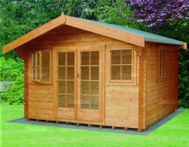 Shire Clipstone Log Cabin - Double Door