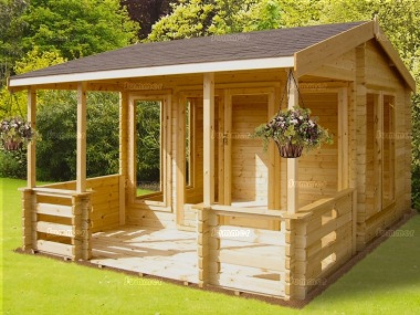 Shire Guisborough Log Cabin - Verandah