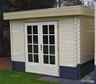 Double Door Pent Roof Log Cabin 598 - Georgian
