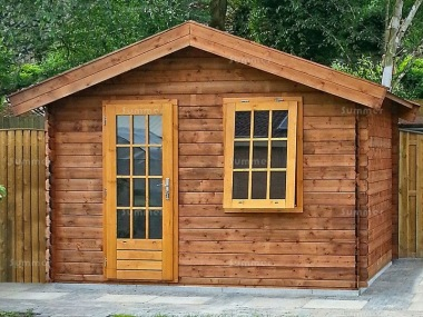 Single Door Apex Log Cabin 659 - Double Glazed