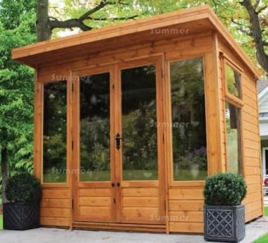 Malvern Newland Pent Summerhouse - Large Panes