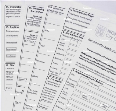 Planning applications - complete applications at low prices