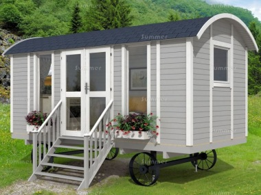 Shepherd Hut 978 - Steps, Double Glazed, Window Boxes