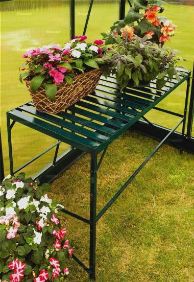 Green Aluminium 1 Tier Slatted Staging 344