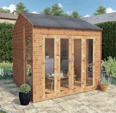 Apex Summerhouse 347 - Shiplap, Folding Doors