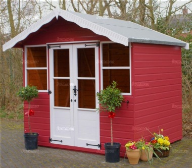 Apex Summerhouse 340 - Painted, Shiplap, Double Door