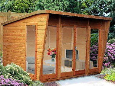 Shire Highclere Summerhouse - Pent Roof, Double Door