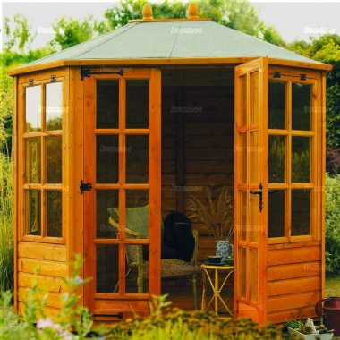 Rowlinson Octagonal Summerhouse 8x6 - Double Door