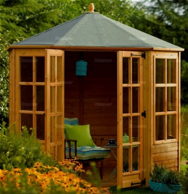 Rowlinson Octagonal Summerhouse 8x8 - Double Door